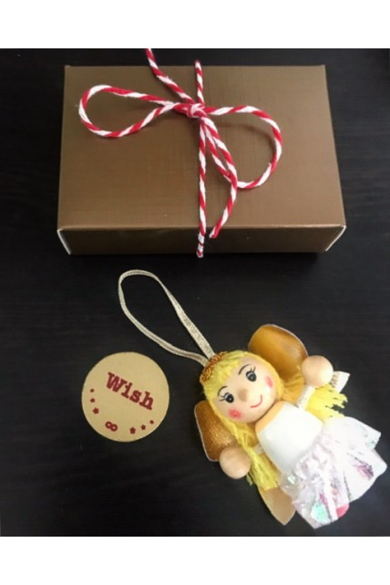 Christmas tree decoration and wishing coin gift set