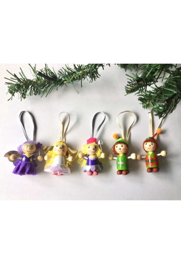 Fairy family Christmas tree decoration set