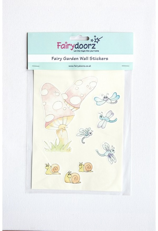 Fairy wall stickers set - Magical Mushroom
