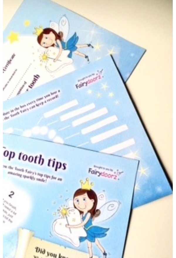 Tooth fairy certificate & recording chart with fun facts and top tips