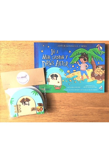 Book - Joe and the Adventure Door Pirates Picture Story book - WELSH VERSION