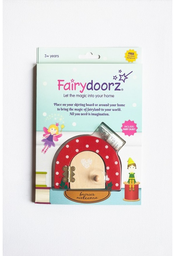 Ruby Red Dotty fairy door & fairy dust gift set