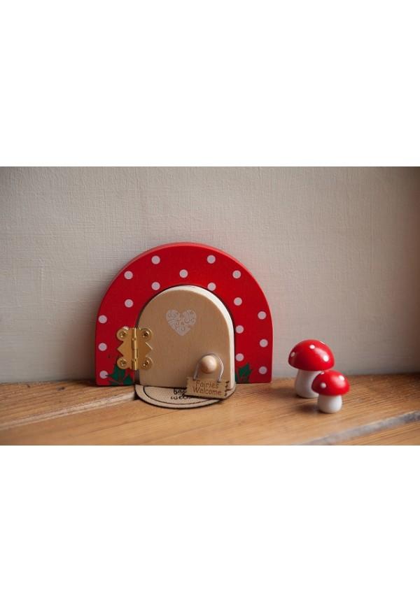 Inside fairy doors ruby red dotty fairy door fairy for Red elf door