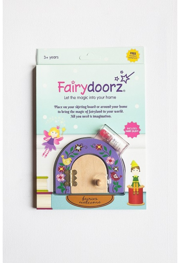 Secret Meadow fairy door & fairy dust gift set in Lavender
