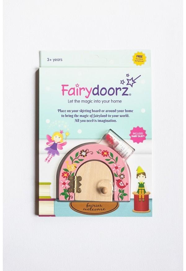 Secret meadow fairy door fairy dust gift set in pink peony for Fairy door gift set