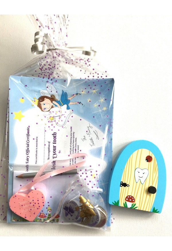 Tooth fairy starter set with PINK heart