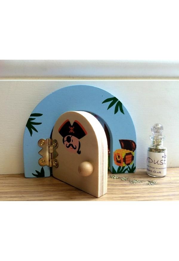 Pirate themed fairy door fairy dust gift set for Fairy door gift set