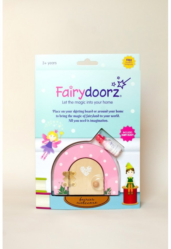 Pink Sherbet Dotty fairy door & fairy dust gift set