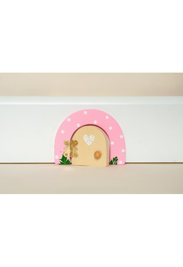 Pink sherbet dotty fairy door fairy dust gift set for Pink fairy door