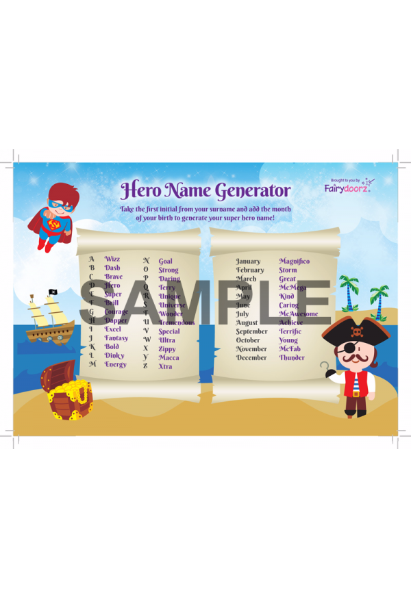 FREE Hero Name Generator for your Fairydoorz