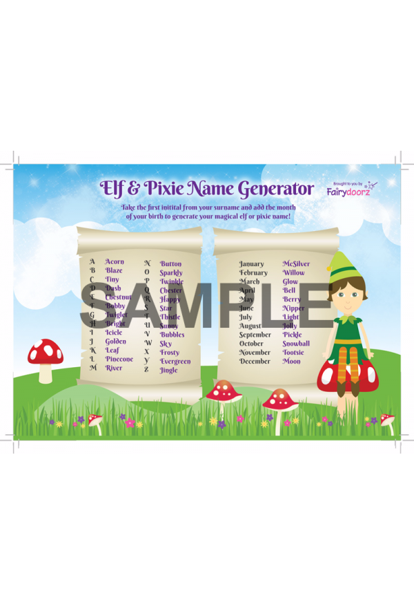 FREE Elf or Pixie Name Generator for your Fairydoorz