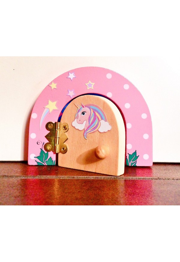 Unicorn Magical themed fairy door & fairy dust gift set